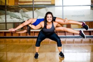 Chrissy holding Kellie - Smart Fit Girls